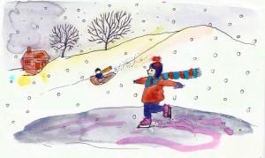 AJ dreams of winter in It Never, Ever Snows in Florida