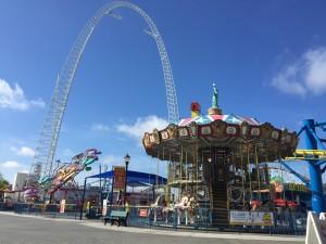 Blue sky over Fun Spot in Orlando